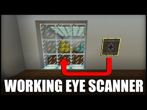 How To Make A Working Eye Scanner In Minecraft (Command Block)