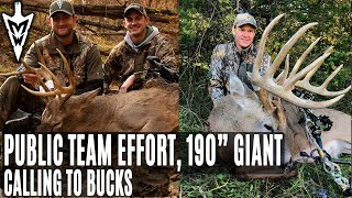 "Call Rutting Bucks: 190"" Giant Comes Running, Public Land Team Effort 