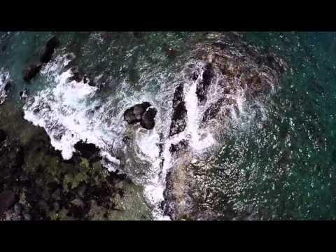 Flight over Kekaha Kai Beach, Hawaii