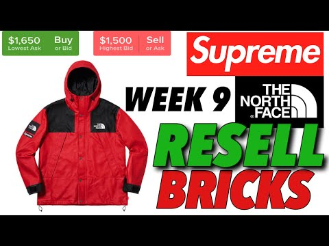 Resell or Bricks? Supreme F/W '18 Week 9 on Stockx