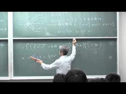微積分II (2015) (25) 重積分の広義積分 (1)