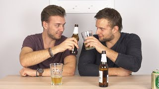 Europeans try Thai Beer