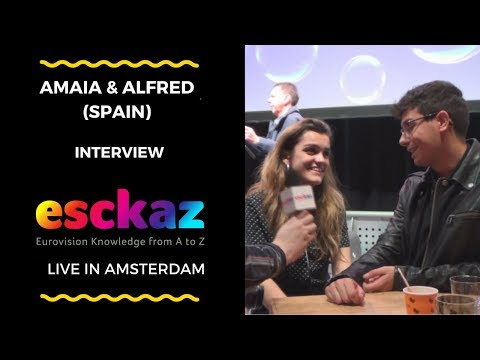 ESCKAZ in Amsterdam: Interview with Amaia & Alfred (Spain at the Eurovision 2018)