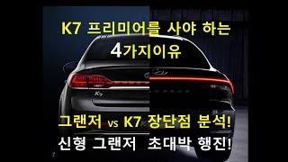 K7프리미어를 사야하는 4가지 이유! 신형 그랜저 초대박 행진! 그럼에도 불구하고 K7을 선택한 이유는?  신형 그랜저와 K7 장단점 분석