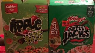 Gambar cover Dollar Tree Cereal Taste Test (APPLE BITS VS APPLE JACKS)