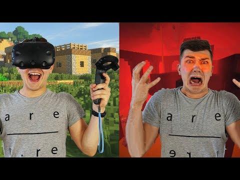 Что если провести 24 часа в очках виртуальной реальности в Майнкрафт