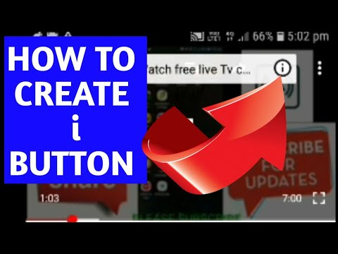 HOW TO ADD I BUTTON ON YOUTUBE TAMIL