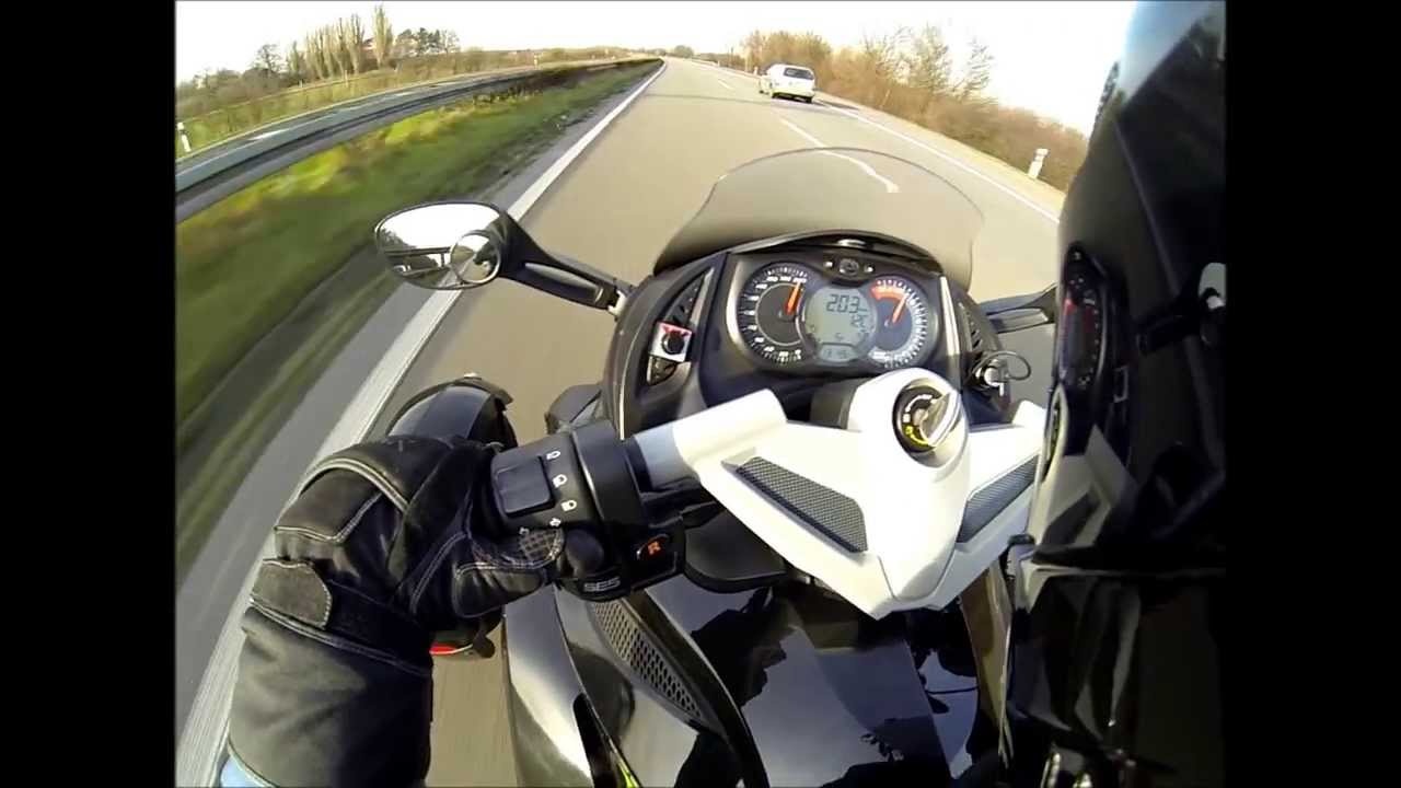 Can-am Spyder RS SE5 Top Speed 205km/h - YouTube