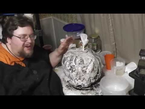 Paper Mache Pumpkins- 4 - Bottom and Face