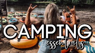 CAMPING ESSENTIALS FOR THE LAKE + RECIPES | SUMMER 2019