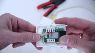 Интернет розетка схема подключения на канале inrouter(Повредили интернет кабель? Нужно удлиннить интернет кабель? Данную интернет розетку можно использовать..., 2015-01-24T12:48:22.000Z)