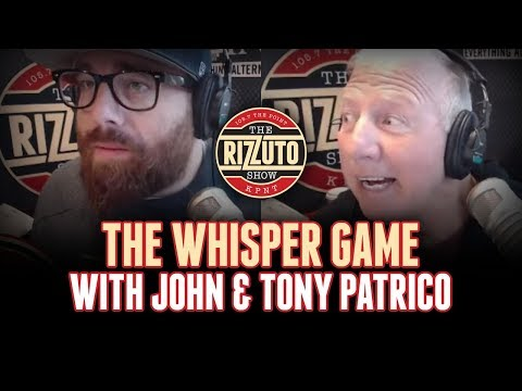 Tony and John Patrico play the WHISPER GAME [Rizzuto Show]