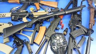 Realistic Replica Toys Guns !! Box of Toys ! Realistic AK 47,Revolver,Shotgun,Raptor M4