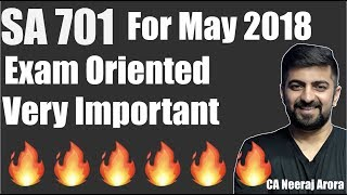 SA 701 New For May 2018 | Very Important For Exams