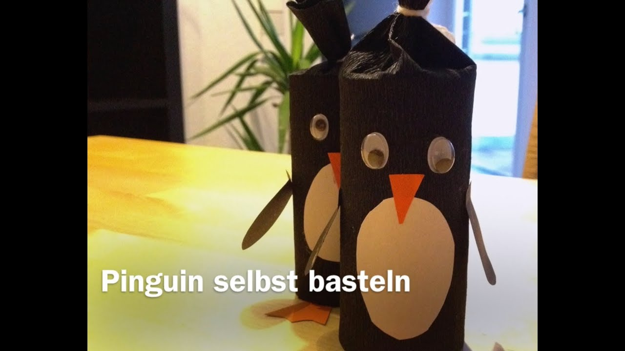 pinguin basteln youtube. Black Bedroom Furniture Sets. Home Design Ideas