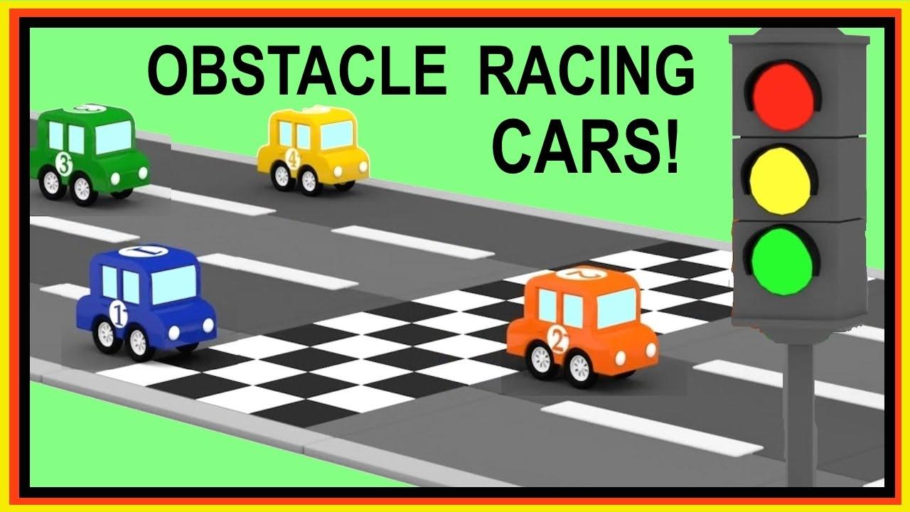 Cartoon Cars Obstacle Race With Car Crashes Car Cartoons For