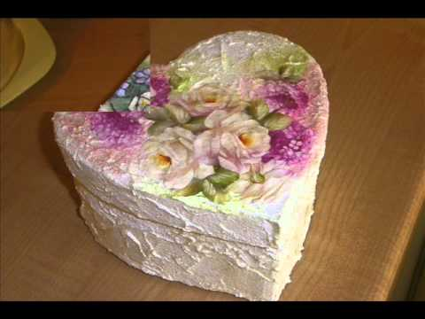 Simona decoupage scatole youtube - Decorazioni decoupage ...