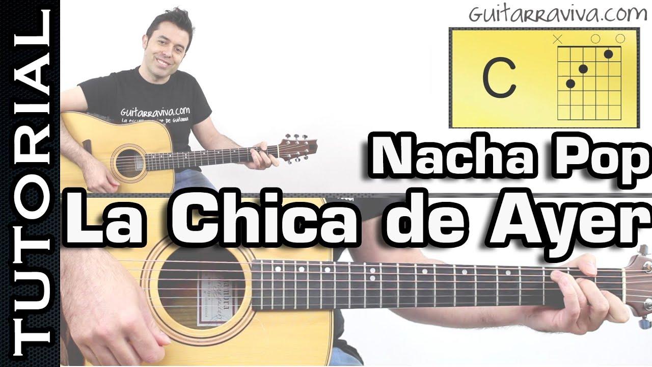 la chica de ayer guitarra