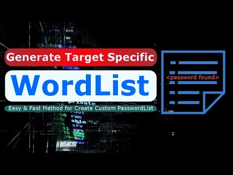 [Hindi] How To Generate Target Based Wordlists / Password List In Kali Linux