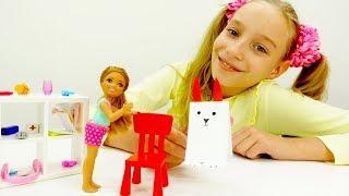 Видео с куклами Барби и Челси: как сделать кролика?