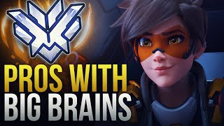 WHEN PROS HAVE BIG BRAINS (200 IQ PLAYS ) - Overwatch Montage