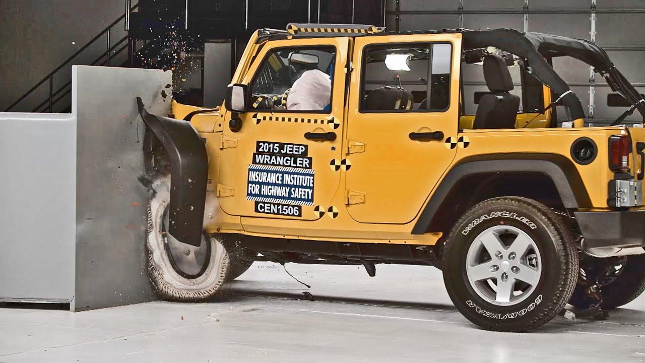 Jeep Wrangler Jk 2 Door >> Crash Test 2015 Jeep Wrangler - YouTube