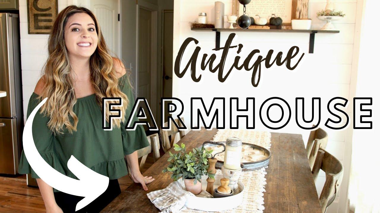 Antique Farmhouse Home Decor // Farmhouse Tiered Tray // Kitchen Decor