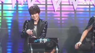 Fancam 130126 Hubei TV Recording SJM - Kyuyun focus