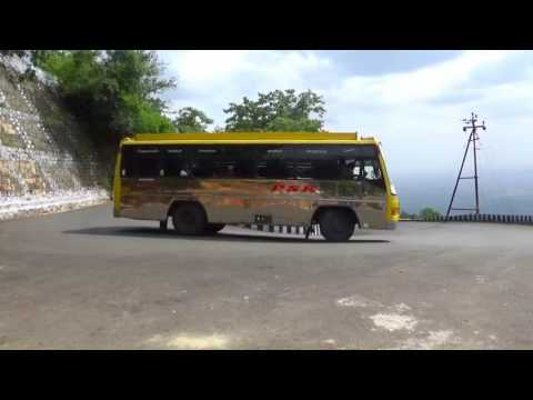 KOLLIMALAI SERIES: 7, Kollimalai / Bus and Cars are Turning on a Very Dangerouse Road.