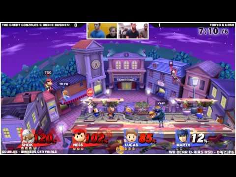 WBB #50  Richie Business & TheGreatGonzales vs Tokyo & Vash   Winners Qtr Finals   Smash Wii U   Dou