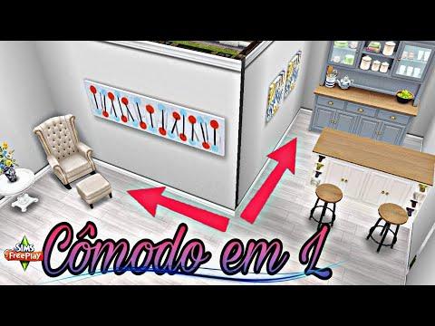 Como fazer cômodo em L   Bug - The sims freeplay thumbnail