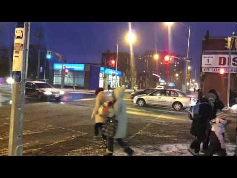 Bloody Cold Bloor St W & Lansdowne Ave TORONTO