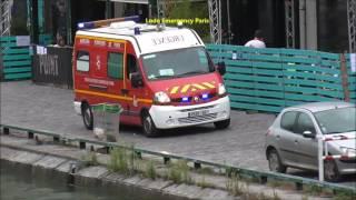 Pompier De Paris VSAV et PN en urgence ( Paris Fire dept Ambulances responding