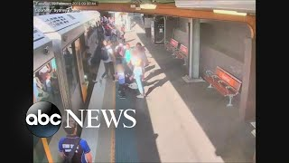 Boy falls into gap between train and platform