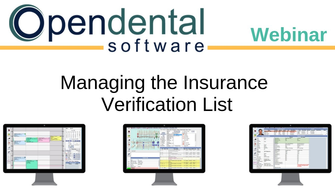 Open Dental Webinar Managing The Insurance Verification List