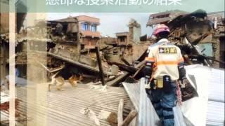 ネパール地震 災害救助犬の捜索 日本レスキュー協会
