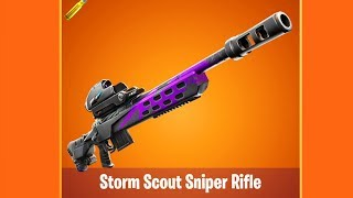 NEW STORM SCOUT SNIPER RIFLE IN FORTNITE (Patch v9.40)