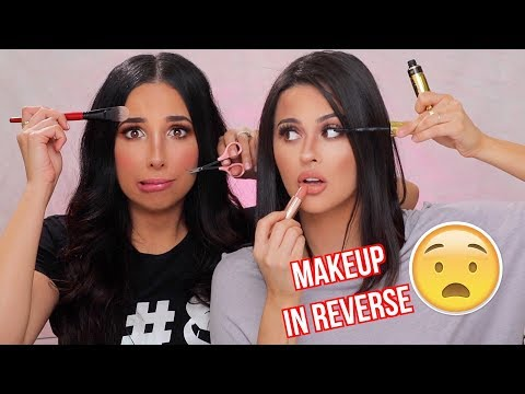 DOING OUR MAKEUP IN REVERSE TUTORIAL WITH  MARIALE