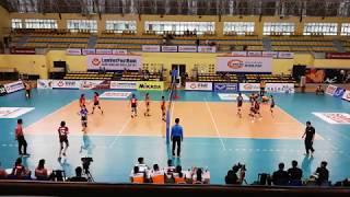 Maylaysia vs Hongkong (China) Set 1 | Asian Women's U19 Volleyball Championship 2018