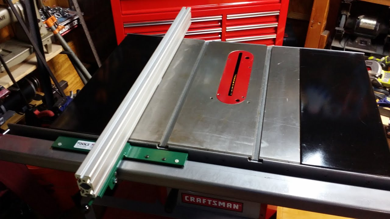 Table Saw Fence How I Modified To Biesemeyer Style System 1