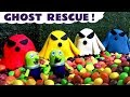 Funny Funlings Ghost Rescue in Candy with Spooky Pay Doh Ghost and Thomas Train