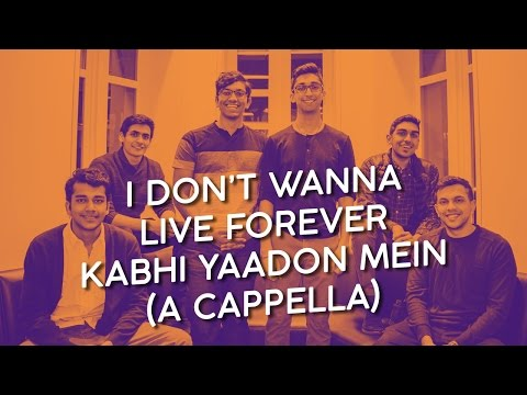 I Don't Wanna Live Forever / Kabhi Yaadon Mein - Masala Mashup (A Cappella)