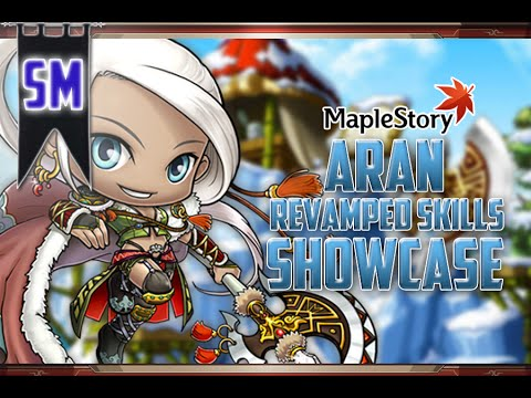 MapleStory: Aran Revamp Skill Showcase! [+How to use the skills]