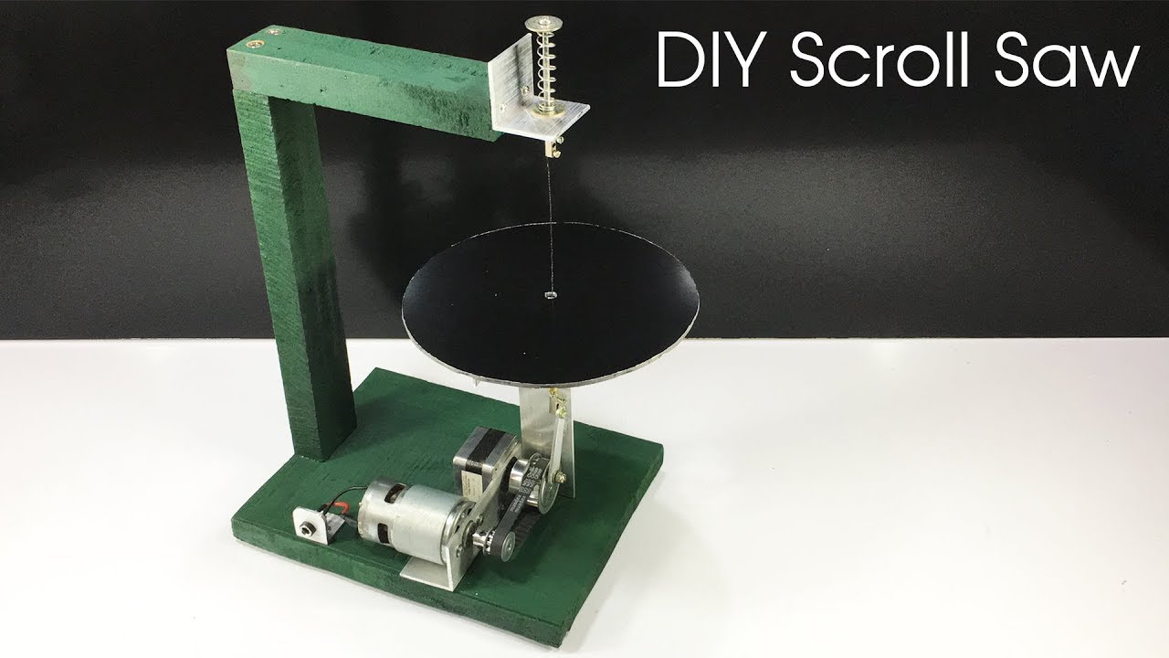 How to make SCROLL SAW machine at home