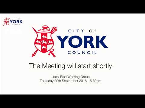 Local Plan Working Group, 20 September 2018