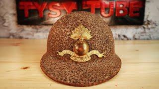 Rusted Military Helmet -impossible restoration
