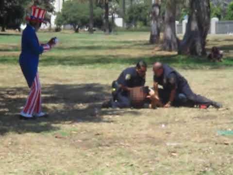 L.A. Veterans Administration Police Officers Subduing Vietnam-Era Veteran (2/2)
