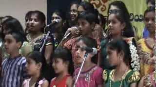 Group Song Kannada   Ello hutti Ello Beledu   by Srujana Students