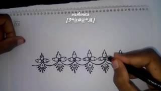 Beautiful Alpana Designs And Rangoli Designs--10//Alpana designs//How to draw  alpona