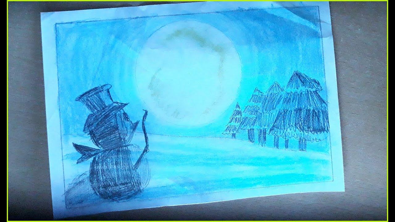 Vẽ tranh galaxy người tuyết | Nguyên ngọt – Y Vân